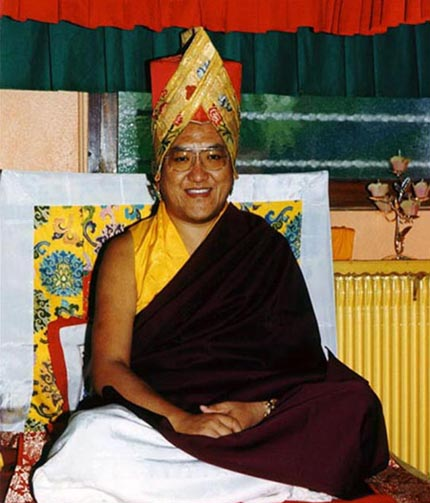 His Holiness The Sakya Trizin, spiritual leader of the Sakya Pandita Dharma Chakra Monastery